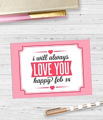 "Открытка ""I will always Love You"""