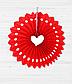 Бумажный веер с сердечком (35 см.), фото 2