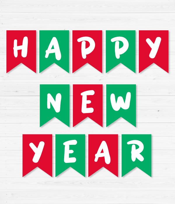 """Новорічна гірлянда з прапорців """"Happy New Year"""""""