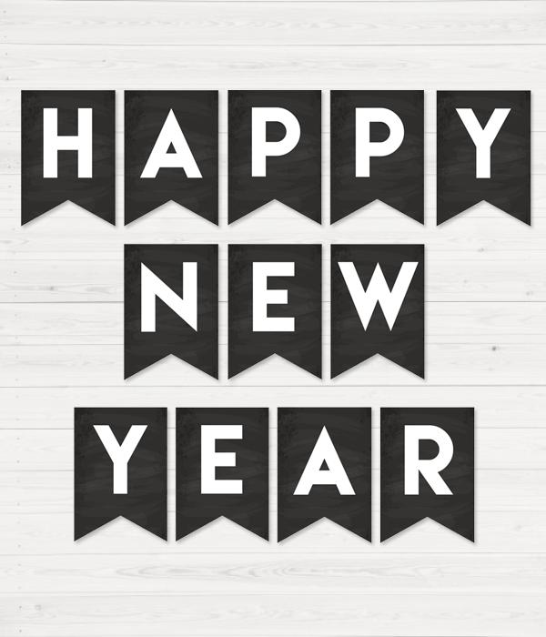 """Мелковая гірлянди з прапорців """"Happy New Year"""""""