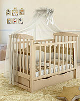 Дитяче ліжечко Angelo Lux-7, слонова кістка, фото 1