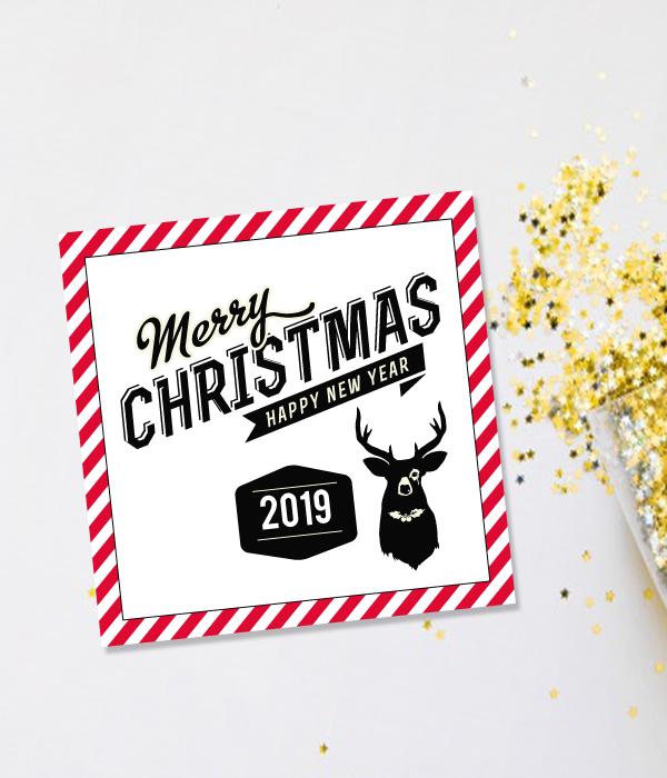 """Новогодняя открытка """"Merry Christmas 2019"""""""