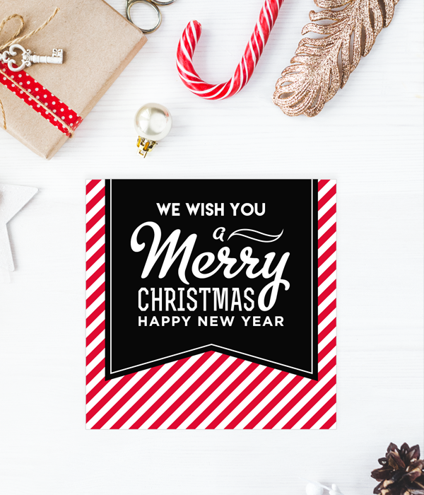 "Новогодняя открытка ""Merry Christmas & Happy New Year"""