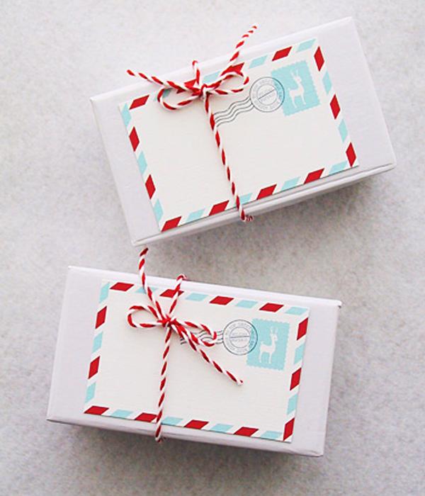 Почтовые новогодние открытки (10 шт.)