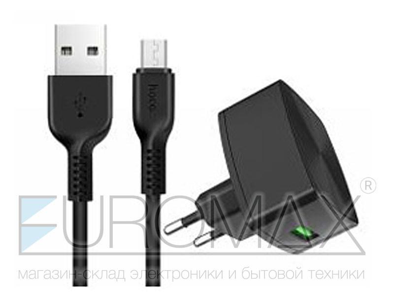 Зарядное устройство 220В с кабелем USB - micro USB Hoco 72шт C70A-V8