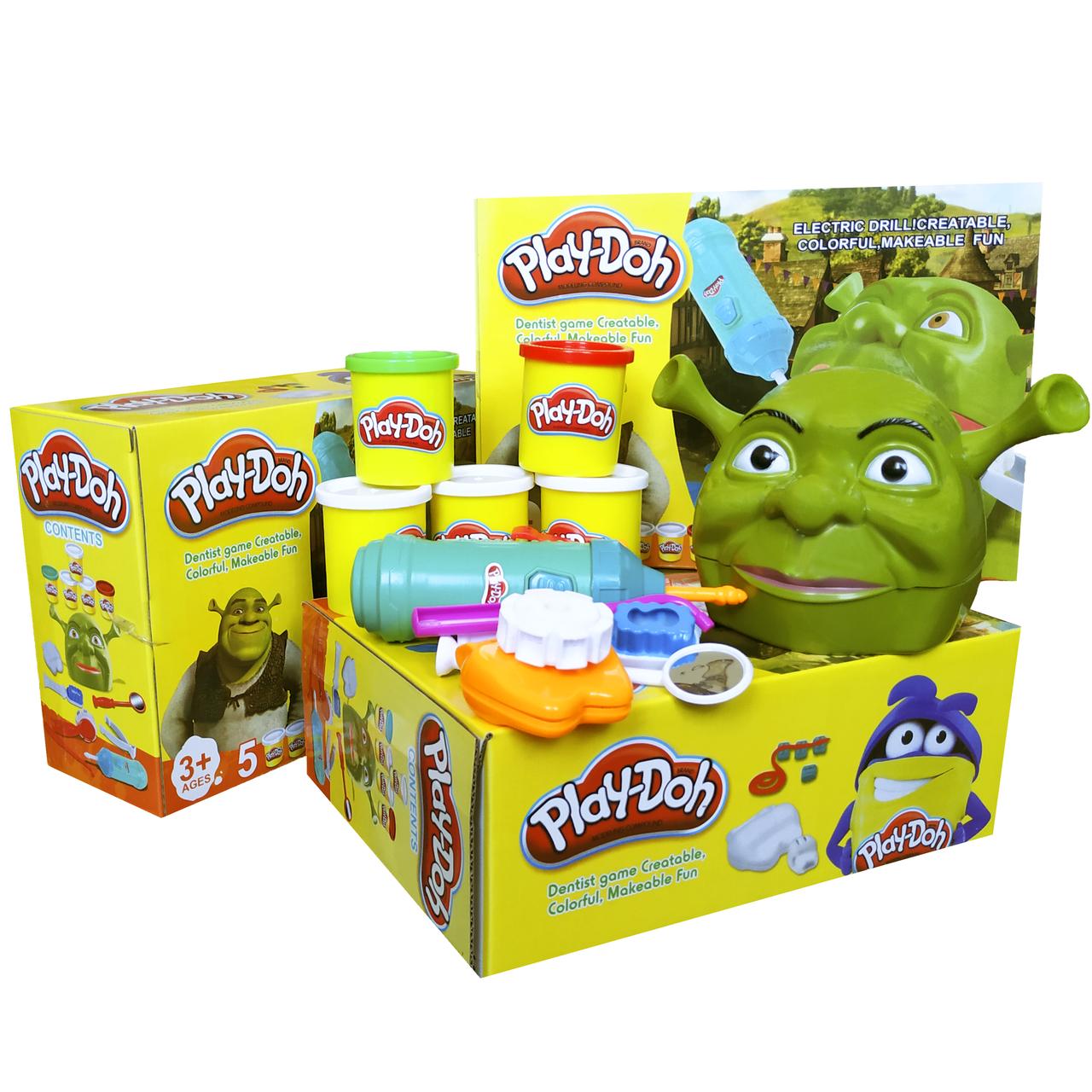 Игровой набор Пластилин для лепки Play-Doh Стоматолог Шрек Мистер Зубастик scs scs