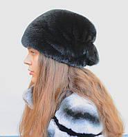 Женская норковая шапка Веерок, фото 1