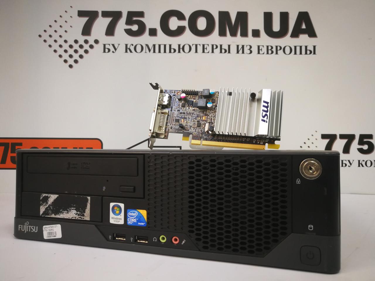 Игровой компьютер Fujitsu, Intel Core2Quad Q8200 2.33GHz (4 ядра), RAM 8ГБ, SSD 240ГБ(SSHD 500ГБ), HD 5450 1GB
