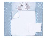 Пеленальный матрас для новорожденных тканевый Veres Summer Bunny blue