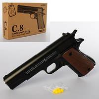 KMC8 Пистолет   металл, на пульках, 19см, в кор-ке, 23-15-5см