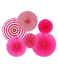"""Набор бумажных вееров """"Pink mix"""" (6 шт.)"""