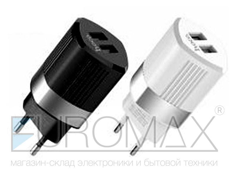 Зарядное устройство 220В USBx2 Hoco 90шт C55A
