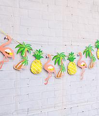 "Гирлянда ""Фламинго, пальмы и ананасы"""