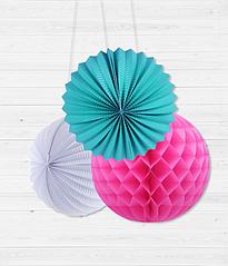 Набор бумажных шариков для украшения праздника (3 шт.)