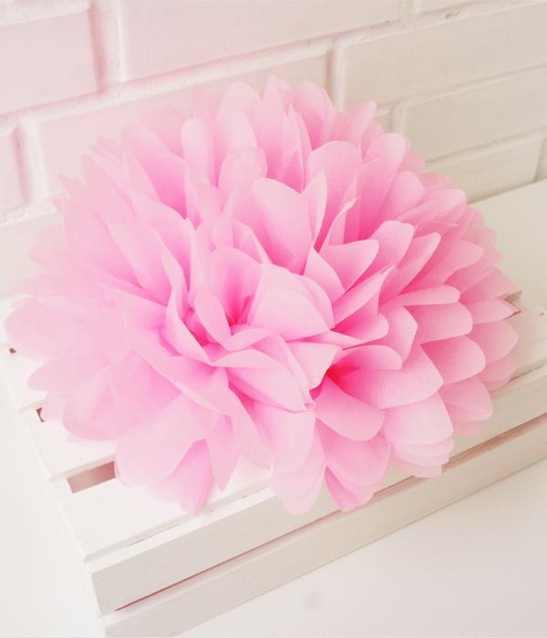 Цветок пом-пон для украшения праздника (35 см.)