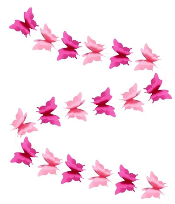 "Гирлянда ""3D Бабочки"" (3 метра)"
