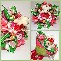 Букет из конфет  с игрушкой Очаровашка, фото 1
