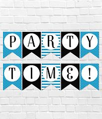 """Гирлянда для вечеринки """"Party time!"""""""