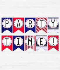 """Бумажная гирлянда """"PARTY TIME!"""""""