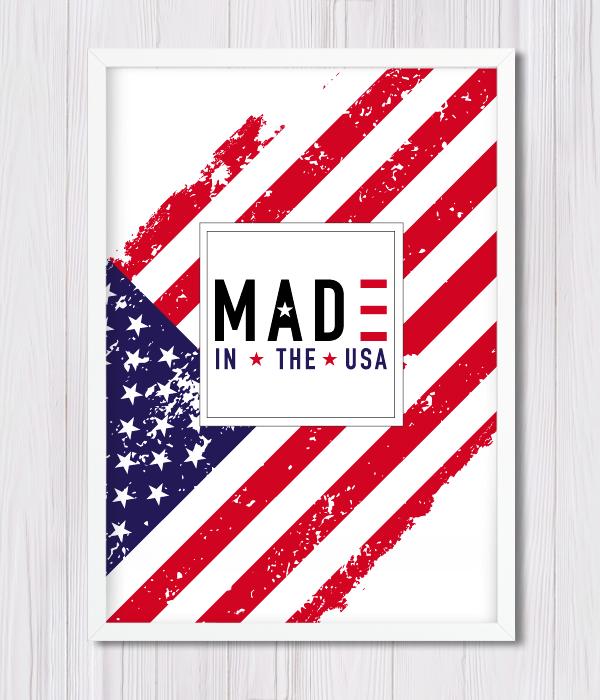 "Постер для праздника ""МАDE IN THE USA"""