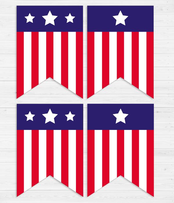 """Гирлянда из флажков """"Америка"""" (12 флажков)"""