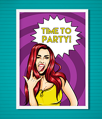 "Постер ""Time to Party!"""