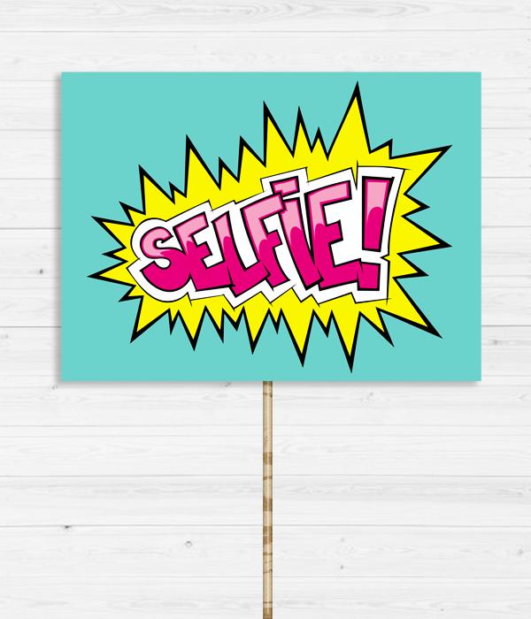 """Табличка для фотосессии """"Selfie"""""""