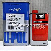 U-POL Лак HS 2К 2:1 акриловый глянцевый с повышенной устойчивостью против царапин в комплекте с отвердителем 1,0+0,5л