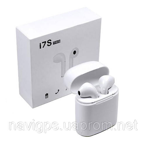 Беспроводные bluetooth-наушники i7S 5.0 с кейсом