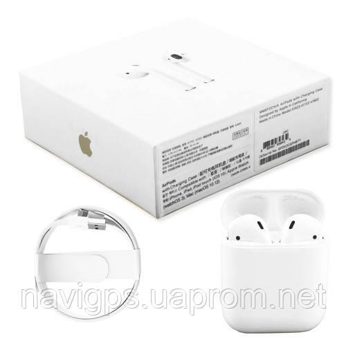 Беспроводные bluetooth-наушники Apple AirPods 1602 5.0 (100% копия) с кейсом
