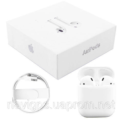 Беспроводные bluetooth-наушники Apple AirPods 1603 5.0 (100% копия) с кейсом