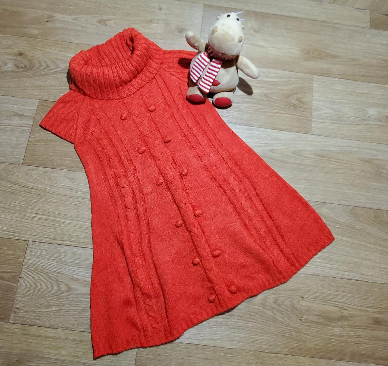 Стильное красное вязаное платье на девочку Crazy8 (США) (Размер 7-8Т)