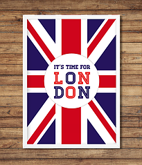 """Постер """"It's time for LONDON"""""""