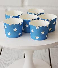 """Формочки для капкейков """"Blue white stars"""" (10 шт.)"""