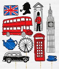"""Набор аксессуаров для фотосессии """"I love London"""""""