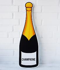 """Большая декорация из пластика """"Бутылка шампанского"""""""
