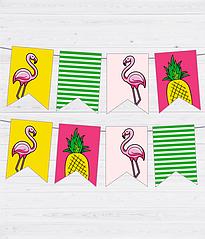 """Паперова гірлянда """"Summer time"""" (12 прапорців)"""