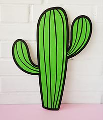 Декорация-кактус из пластика