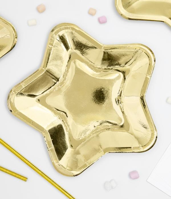 """Паперові тарілки """"Gold stars"""" (6 шт.)"""