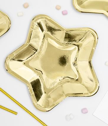 "Бумажные тарелки ""Gold stars"" (6 шт.)"