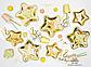 """Бумажные тарелки """"Gold stars"""" (6 шт.), фото 2"""