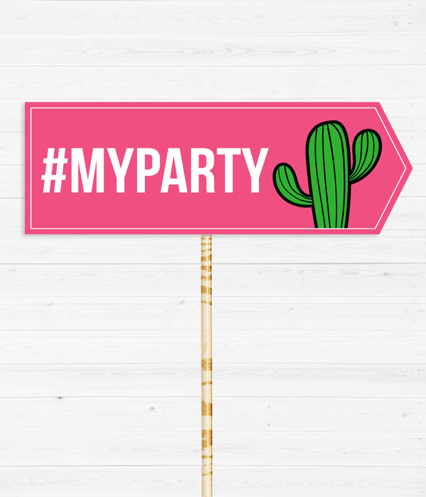 "Табличка для фотосессии ""#MyParty"""