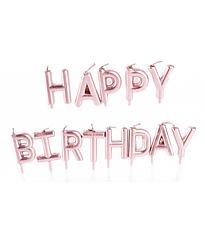 "Свечи для торта золотые ""Happy Birthday"""