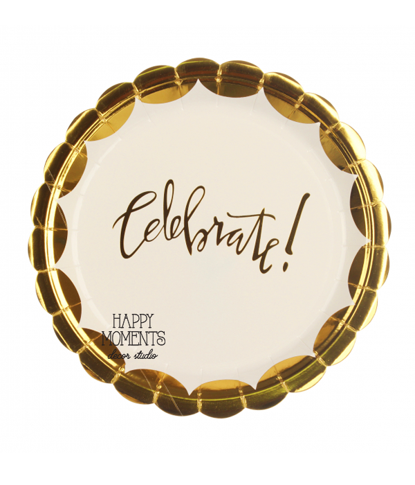 "Бумажные тарелки ""Celebrate"" (10 шт.)"