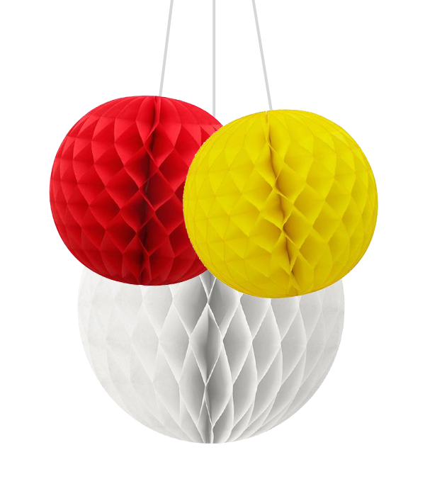 Набор шариков-сот для украшения праздника