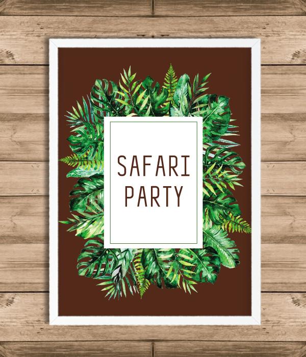 "Постер ""Safari Party"" (2 размера)"