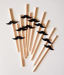 Бумажные трубочки с усами (10 шт.)