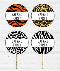 """Топперы для капкейков """"Safari Prints"""" (10 шт.)"""