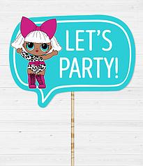 """Табличка для фотосессии """"Let's Party!"""""""