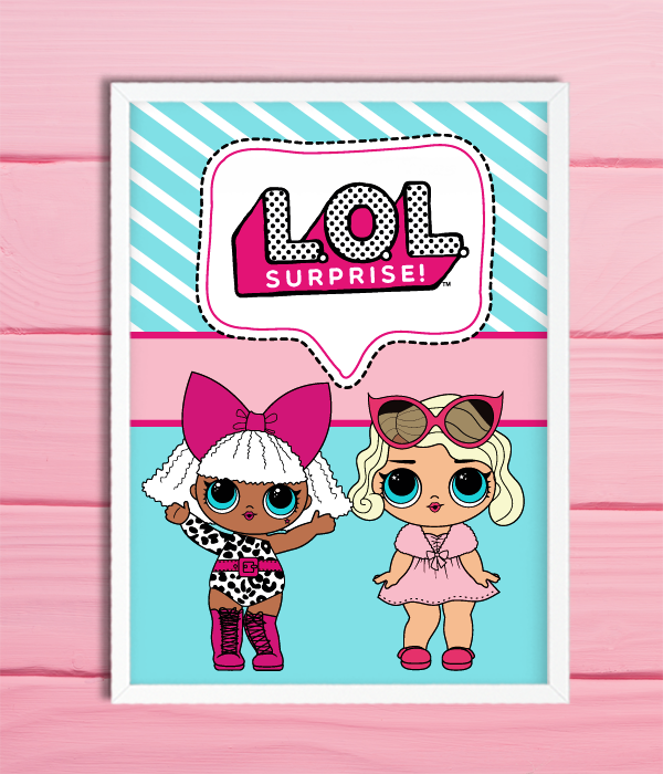 "Постер ""LOL SURPRISE"" (2 размера)"